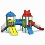 自然幼儿园滑梯WL11128A