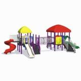 自然幼儿园滑梯WL11125A