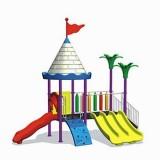 自然幼儿园滑梯WL11127B